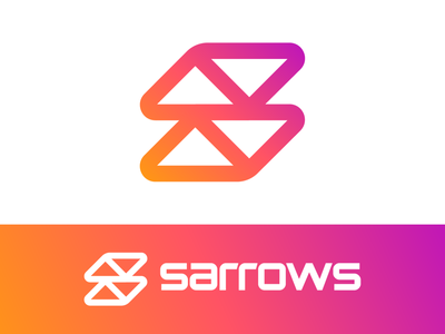 S / Arrows / Up / Down / Direction Logo Exporation (Unused) bold clean sharp rounded sign signage negative space for sale unused buy entrance enter guidance arrow custom line lines gradient letter type text typograhy branding brand identity logo mark symbol icon