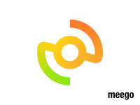 Meego Logo Exploration 03 (Unused for sale) software product for sale unused buy system it line lines path circle together center element tech techy technology platform integration middleware connection unite merge together branding brand identity logo mark symbol icon