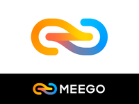 Meego Approved Logo Design for Software Product centered company middleware it center element cold warm gradient colorful unity merge path 3d tech techy technology platform integration middleware connection link chain unite branding brand identity logo mark symbol icon