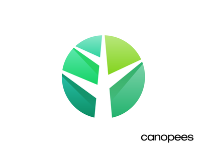 Canopees Logo Design Exploration 01 amazon sales customer minimal tech agency marketing progress help scale high tree branch grow growth negative space jungle forest rain tropical volume effect depth green gradient shade highlight 3d branding brand identity logo mark symbol icon
