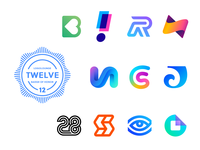 LogoLounge Book 12 Logo Winners b heart love passion r exclamation mark overlap cash thunder bolt fast v a illusion 3d c s monogram connection letter j wave surf form circle paper entry eye see blue neon letter s arrows directions number 28 lines branding brand identity logo mark symbol icon
