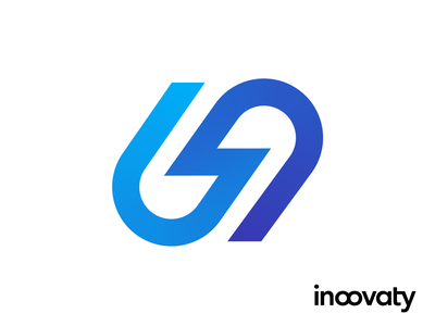 Inoovaty Logo Proposal 01 thunder scale connection unity speed bolt lightning fast software cloud programming it type typography text custom branding brand identity logo mark symbol icon