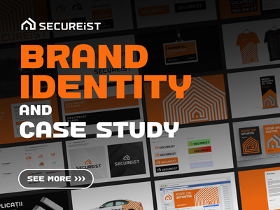 SecureIst Brand Identity and Case Study house secure warm safe it company software hardware security device exploration pattern sketches sketch drawing pencil t-shirt cap apparel t-shirt cap apparel badge id poster roll up banner facebook cover social media vehicle auto wrapping type typography text custom brand book manual guideline branding design brand identity logo mark symbol icon