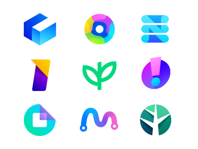 TOP 9 Dribbble Shots of 2020 tree grow growth m route path road form paper fold leaf green fresh organic invest stock market n list circle perspective letter c cube branding brand identity gradient modern icon mark symbol collection logotype logo