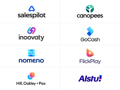 Logotype Collection 2019 - 2021 pilot guide sales scale chameleon cash money send fast grow tree jungle nature overlap speed motion innovation mobile app company technology tech startup branding brand identity icon symbol marks mark logo