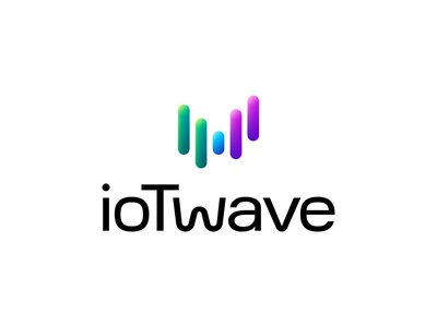 Iotwave Approved Logo Design for IT Company pattern modern futuristic gradient neon wordmark lettermark letter w digital wave analog expertise knowledge info internet of things startup company tech technology branding brand identity type typography text custom logo mark symbol icon