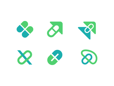 Xtimized Logo Explorations for Supplements Brand nutrition doctor hospital pharmacy sketches brain progress enhance arrow arrows up scale letter x pills for sale unused buy branding brand identity logo mark symbol icon