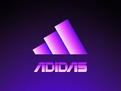 Futuristic Logos #1 — ADIDAS gradient athletic sportswear sport redesigned trend future typography type idea concept redesign branding brand identity logo mark symbol icon