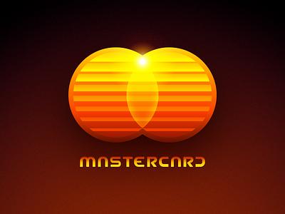 Futuristic Logos #2 — Mastercard shiny glossy circles light 2d 3d redesign concept futuristic future illustration type typography text custom branding brand identity logo mark symbol icon