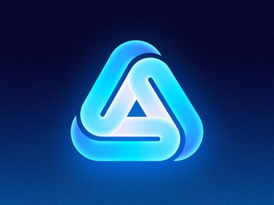 Futuristic Logos #5 — Apple App Store sign cyber punk illusion path glow neon alphabet loop endless application app store apple ios macos for sale unused buy branding brand identity logo mark symbol icon