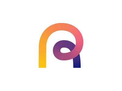roadloop Logo Exploration (Unused) online digital overlap path road gradients it tech startup gradient lettermark type typography text custom for sale unused buy branding brand identity logo mark symbol icon