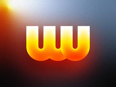 Futuristic Logos #6 — Western Union money transfer shadow highlight bank finance ui cyber punk neon glow modern future gradient tech monogram letter w u type typography text custom branding brand identity logo mark symbol icon
