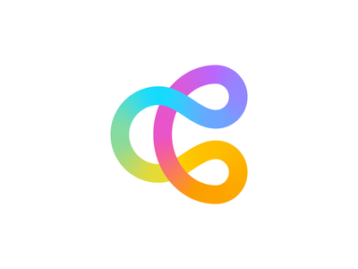 Connection / Unity / Letter C Logo 2D to 3D cinema 4d 3d object tech technology cyber computer group team community together circle circles round friendly app ios android navigation mix mixed gradient colors rainbow happy pride positive curves path color colorful type typography text custom for sale unused buy branding brand identity logo mark symbol icon
