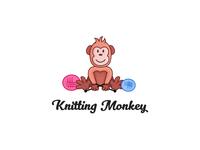 Knitting Monkey Logo Design