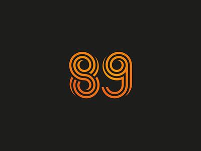 Number 89 Logo Design thick lines gradient logo number symbol 89 number logo numbers