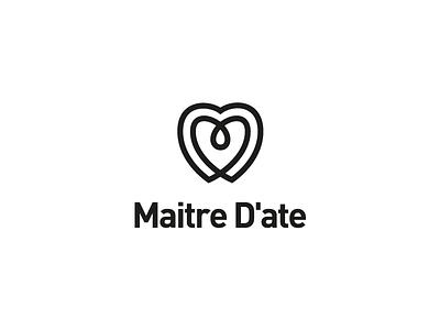 Maitre D'ate Logo Design dating logo dating inifinte symbol infinte logo heart icon heart symbol heart logo love symbol love logo