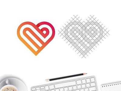 Maitre D'ate Logo Exploration #3 grid logo dating logo dating inifinte symbol heart icon heart symbol heart logo love symbol love logo