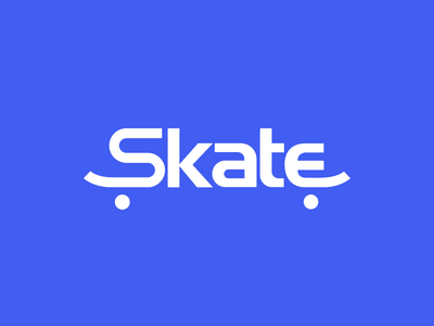 Skate Wordmark Design Concept sports logo game logo concept text logo type logo wordmark skate logo skateboard skate
