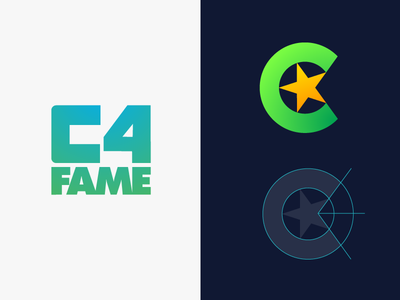 C4fame Logo Design (Option 1 — 2)