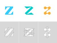 Letter Z Exploration Concept 1 — 3 Grids & Color