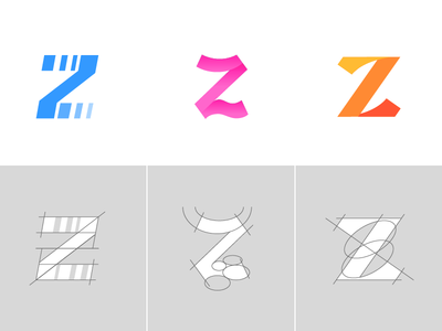 Letter Z Exploration Concept 7 — 9 Grids & Color