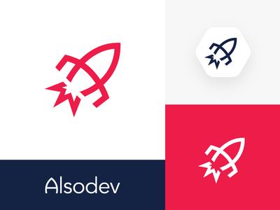 Alsodev Logo & Wordmark Design