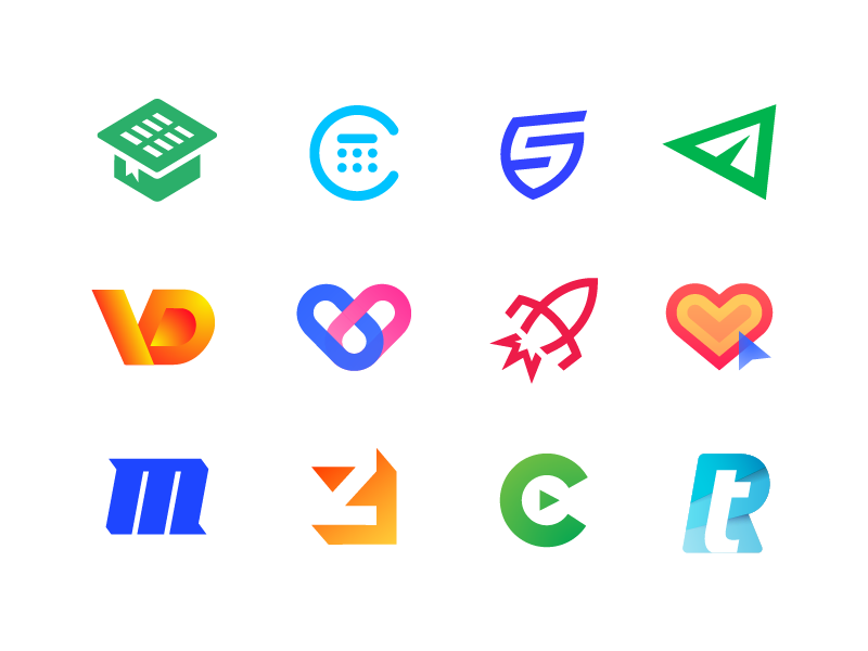 New Logo Collection 2017 — 2018 (#4) logos, mark, design designer brand identity branding play symbol icon letter m z c negative space rocket launch space cosmos pills medicine health hospital vd monogram lettermark wordmark paper plane fly sms letter s sport shield speed calculator finance money stats book student university buy