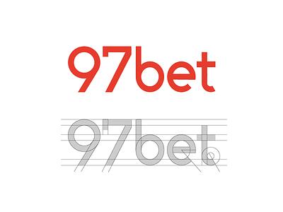 97bet Wordmark Design identity custom text brand branding logo logotype symbol grid type typography lettermark bet bookmaker sport number digits numeric digital