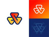 Triangle Loop Logo Design (Variation)