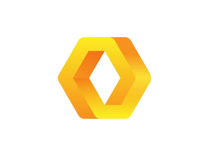 Hexagon Loop Logo Exploration rebound designer 3d volume gradient infinite loop endless graphic art vector ui brand identity branding graphic logo mark symbol icon
