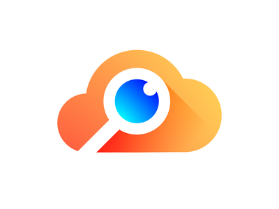 Speye Cloud Logo Exploration marketing social media service for sale buy unused finder tracking service data eye magnifier zoom search spy secret agent data startup business company growth volume app ui interface gradient modern long shadow brand identity branding graphic logo mark symbol icon