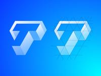 Letter T Exploration — Concept 01 (Grid + Video Process)