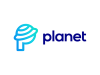 P for Planet Logo Design