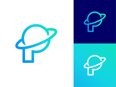 P for Planet Logo Design (Reworked)