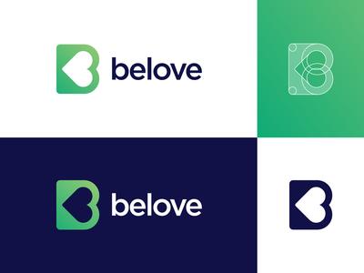 B Heart Logo Exploration (Grid + Name)