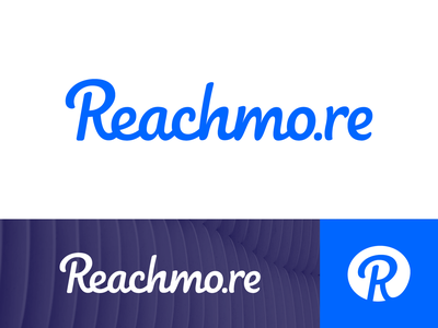 Reachmo.re Wordmark Exploration Option 2 circle round flow smooth clean client 2d website letter hand drawn lettering type typography text custom logo mark symbol icon brand identity branding graphic grid letter shape lines illustration ui app site growth progress scale rise conversion client platform web social media marketing platform buy sell grow help portal reach gain achieve