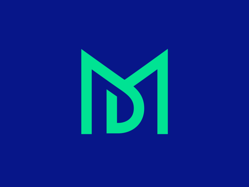MD Logo Refresh neon dark contrast noir green fresh young vibe monogram type text custom grid letter m d brand identity branding graphic logo mark symbol icon