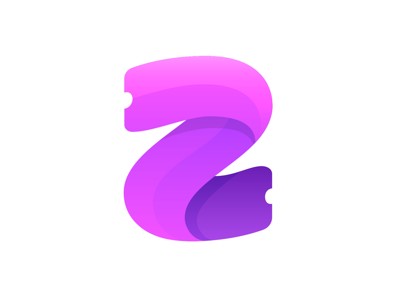 Z + Ticket Logo Exploration 2 flow dynamic speed fold purple overlay transparent clean organizer buy online people fun modern flexible confidence guarantee happy safe peace ticket event token blockchain business marketing social media flat ui 2d 3d for sale unused buy brand identity branding graphic logo mark symbol icon green neon cyber purple letter z type text fresh young vibe colorful colors mix shadow depth