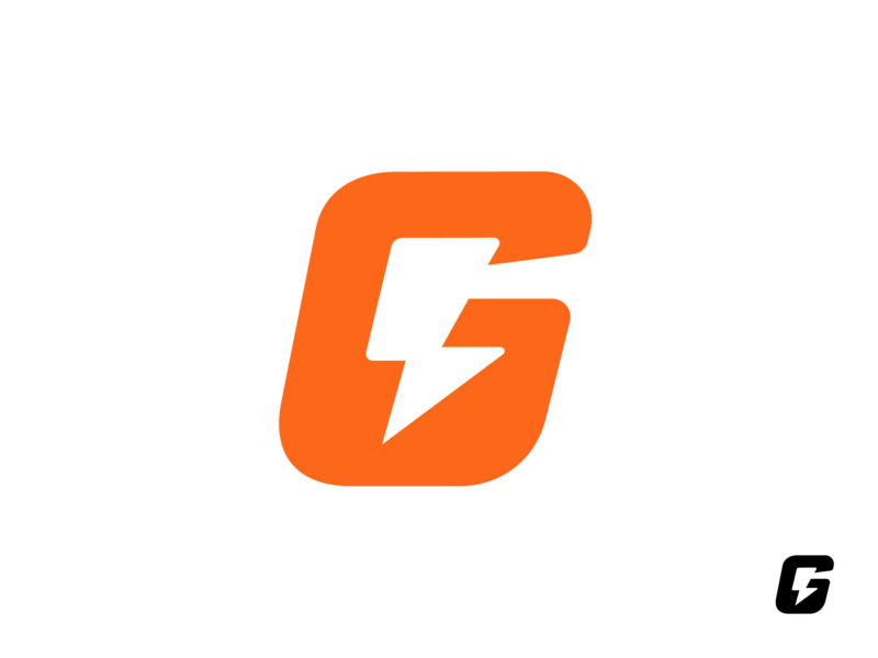 Gatorade Rebrand Challenge concept gatorade negative space energy drink letter g thunder bolt brand identity branding graphic logo mark symbol icon
