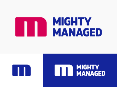 Mighty Managed Approved Logo Design