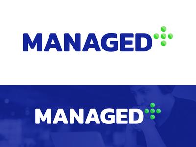 Managed+ Logo Design for IT Management Company