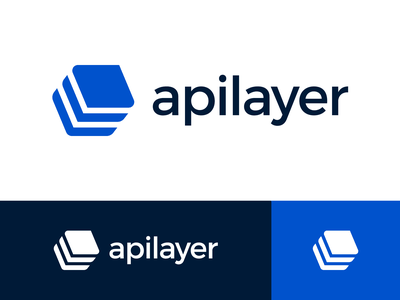 Apilayer Logo Proposal Option 1 solid shape vector blue isometry 2d geometric geometry layer layers layered angle exploration visual brand brand identity branding graphic logo mark symbol icon