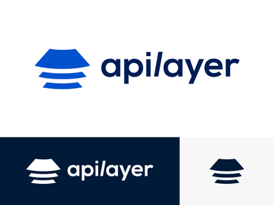 Apilayer Logo Proposal Option 2 (Unused) for sale unused buy company enterprise startup team efficiency software products api scale rise grow develop logo mark symbol icon brand identity branding graphic exploration visual brand layer layers layered angle isometry 2d geometric geometry solid shape vector blue