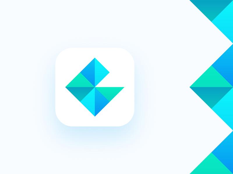 R for Rhombus App Icon Exploration by Mihai Dolganiuc on Dribbble
