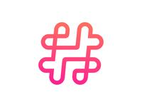 Hashtag Logo Design WIP