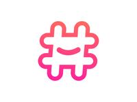 Hashtag Logo Design Second Option
