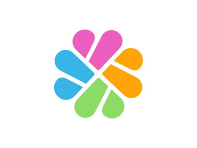 Hearts / Connection Logo Exploration for Self Care Medical App treatment advice health patient graphic cuts monochrome shape pattern clean design colors pink green orange passion group team together app ios android help hearts love medicine doctor branding brand identity logo mark symbol icon