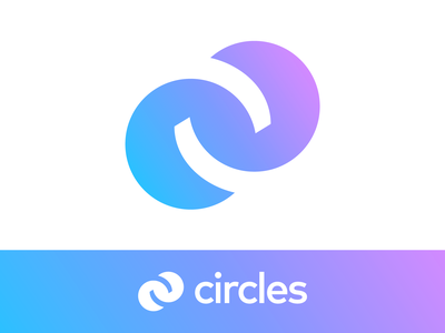 Circles / Connection / Unity / Merge Logo Exploration technology cyber progress scale success tech two mirror angle up letter c merge double app ios android navigation gradient modern social media negative space neon glow friends close family group team community together circle circles round friendly branding brand identity logo mark symbol icon