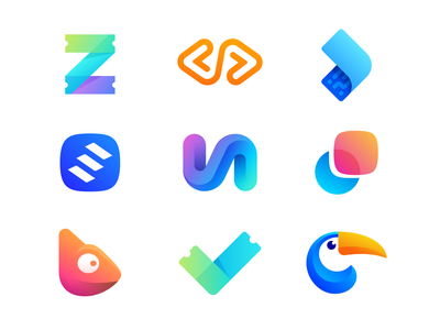 Best Nine Dribbble Shots of 2019 toucan bird jungle exotic check done great achieve chameleon animal change cute motion blend speed animation letter v a monogram stairs progress success grow send fast quick secure barcode atm scan transfer arrow go cash money soft software coding code letter z ticket event 2d 3d volume depth gradient modern light dimension branding brand identity logo mark symbol icon
