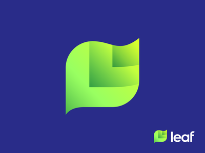 L + Leaf Logo Exploration for Software Company